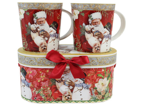 2 Piece Ceramic Mug Set w/matching gift box