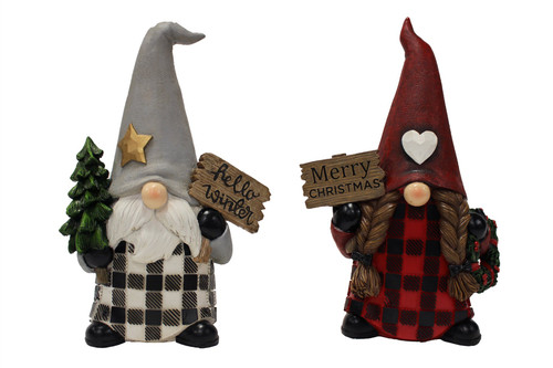 Lg Polyresin Santa (2 Styles to Choose From)