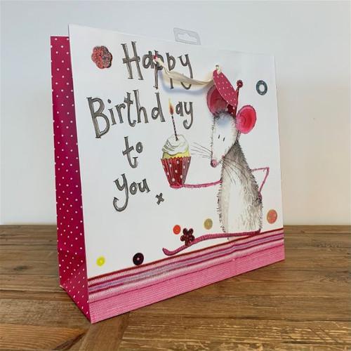 BIRTHDAY GIFTBAG - Mouse & Cup Cake (Large)