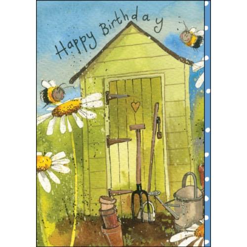 Birthday Card - Garden Shed