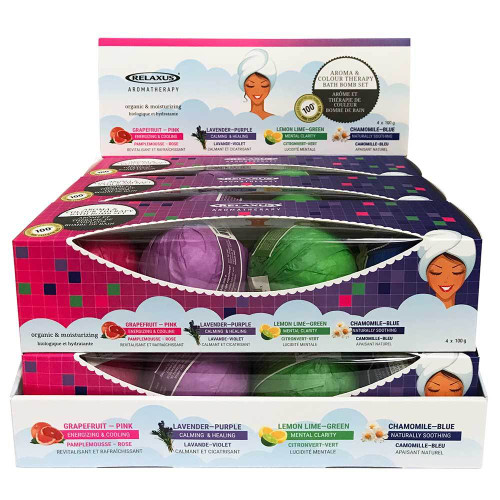 Colour Therapy Bath Bombs 4 Piece Gift Set (4 x 100 g)