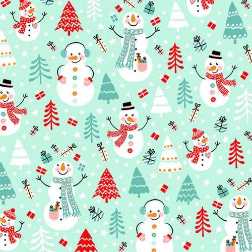 Luncheon napkins - happy snowmen