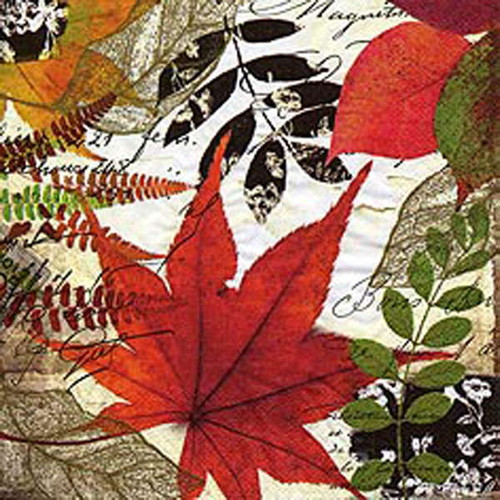 Foliage luncheon napkins