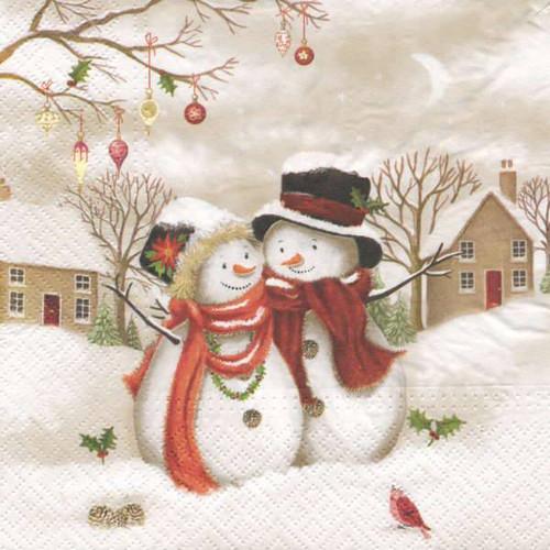 Luncheon napkins - 2 snowman