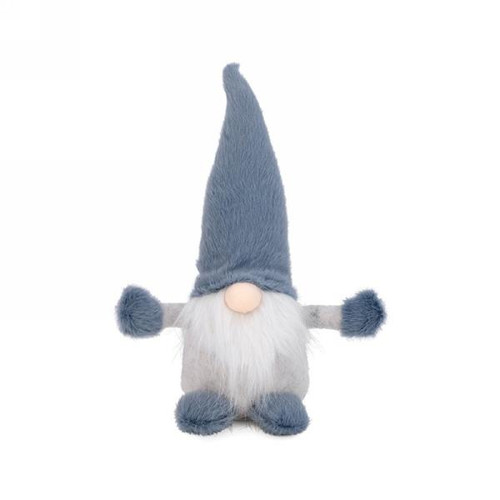 "12"" plush gnome white & blue grey"