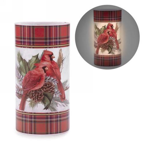 Led Cylinder with cardinal motif