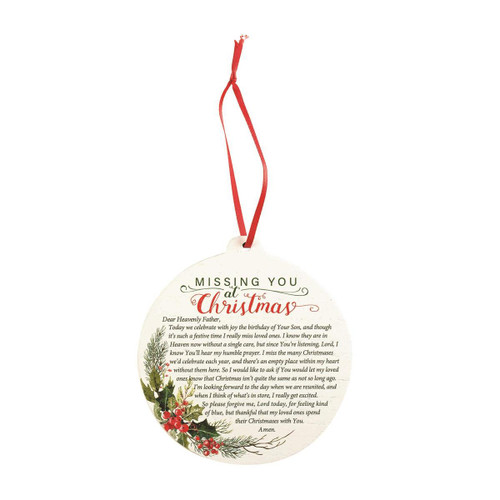 ORNAMENT MISSING YOU AT CHRISTMAS/CARDINAL