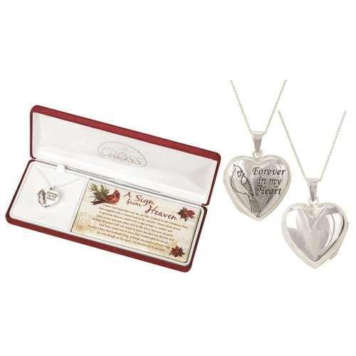 A SIGN FROM HEAVEN CARDINAL HEART LOCKET