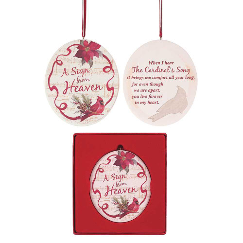 """ORNAMENT RESIN 3.5"""" A SIGN FROM HEAVEN"""