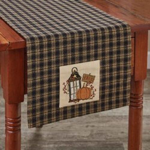 LANTERN AND PUMPKIN TABLE RUNNER 13X54