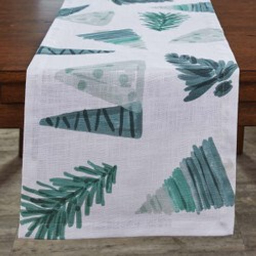 HAND PAINTED Holiday/Park Designs TABLE RUNNER 15X54