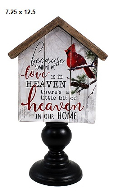 Cardinal Heaven sign with stand