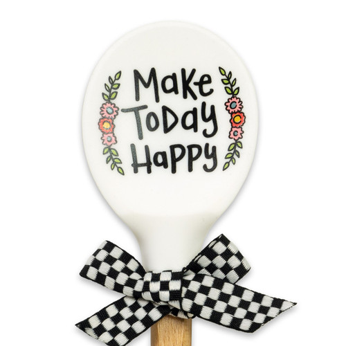 Make Today Happy Silicone Spoon