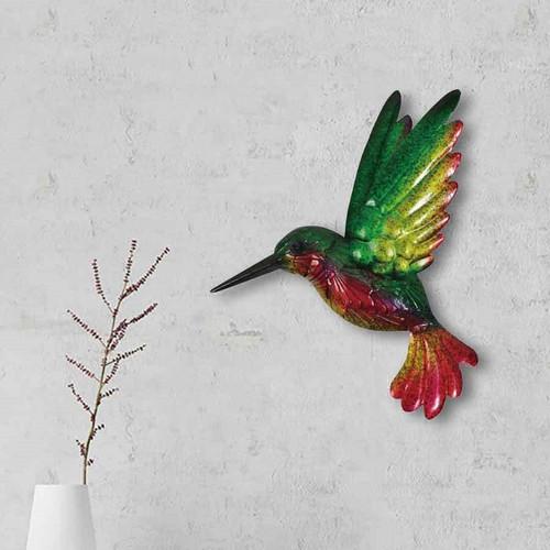 Colourful Metal Hummingbird Wall Décor