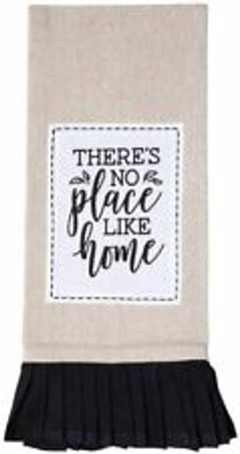 There's no place like home Tan & Black Tea Towel