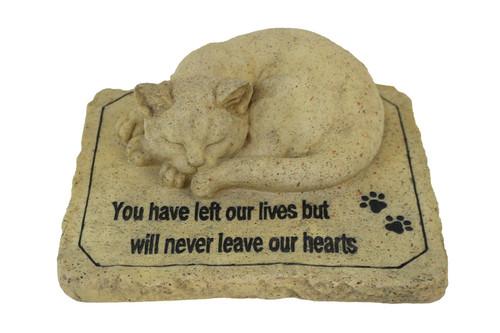 Cat Memorial Stone Resin