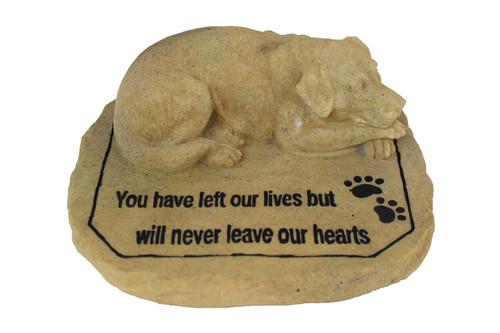 Dog Memorial Stone Resin