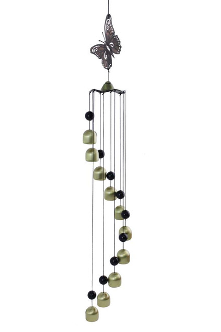 Metal Butterfly w/Spiral Bell Chime