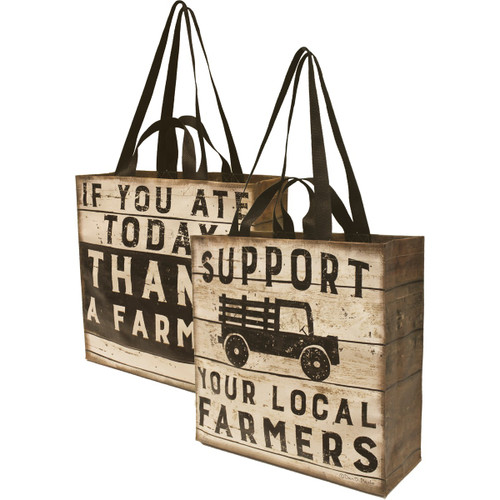 Market Tote - Support Your Local Farmers