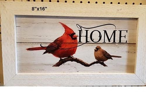 Cardinal home framed sign