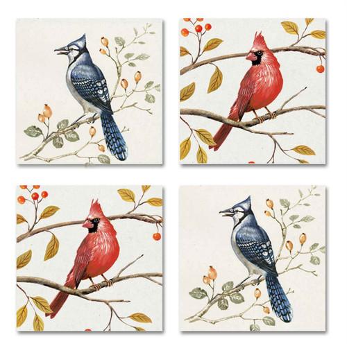 Coaster Set of 4 - Bird Design