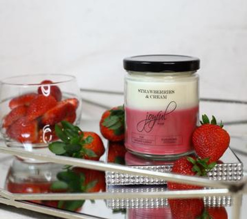 16 oz Soy Candle  - Strawberries & Cream