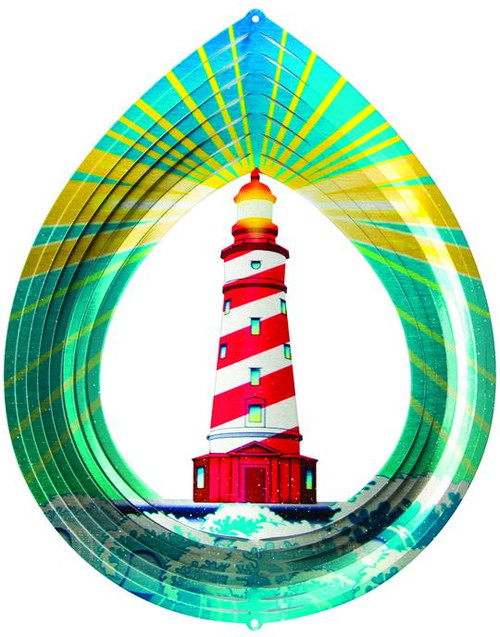 """Lighthouse Wind Spinner Small 6.5"""""""