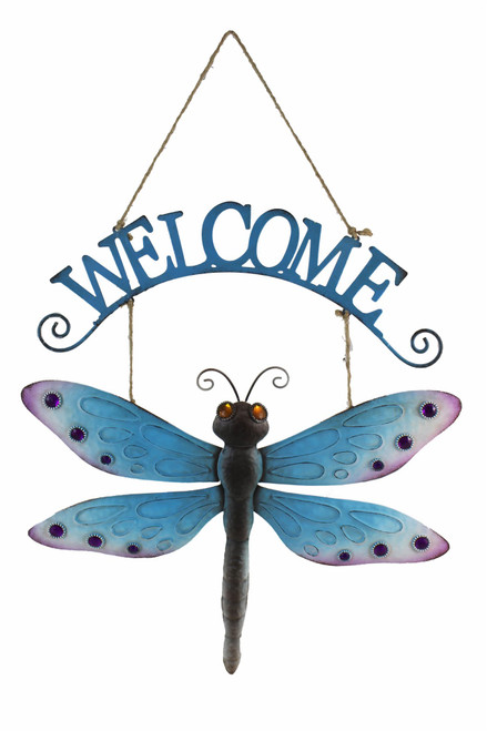 Hanging Welcome Dragonfly Welcome Wall Art