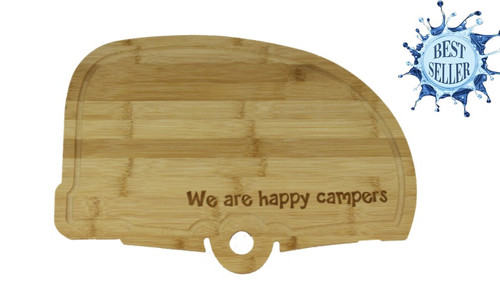 Bamboo Cutting Board Camper Shaped-Happy Campers