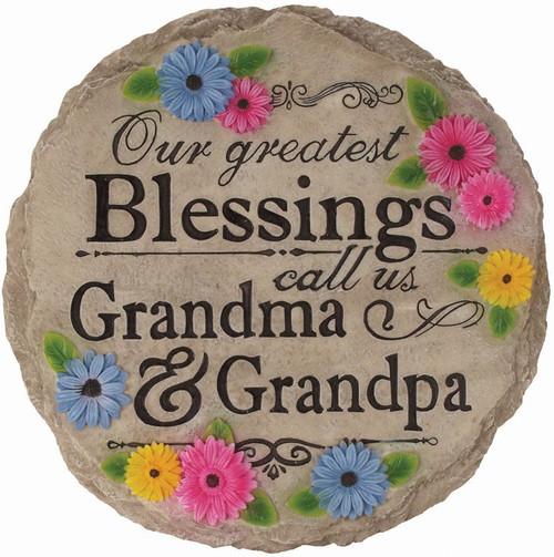 Blessings Grandma & Grandpa Stepping Stone