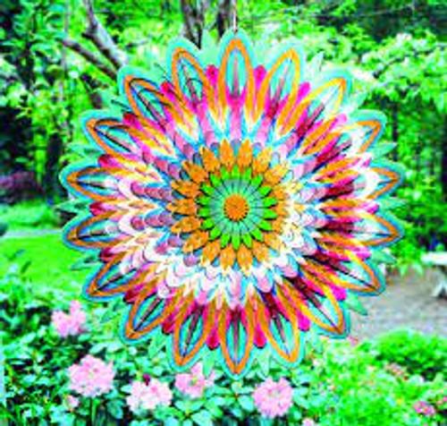 """Wind Spinner - Large Floral Mandala 12"""""""