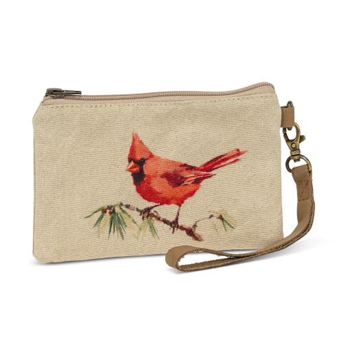 Cardinal Zip Pouch with Strap