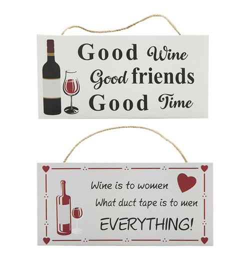 Hanging Wine Sign - 2 Styles to Choose From