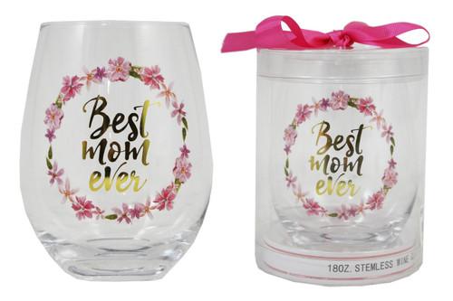Stemless Wine Glass - Best Mom Ever