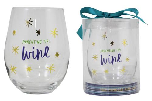 Stemless Wine Glass - Parenting Tip