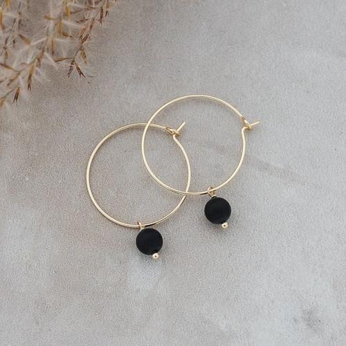 Bellamy Hoops-gold/black onyx