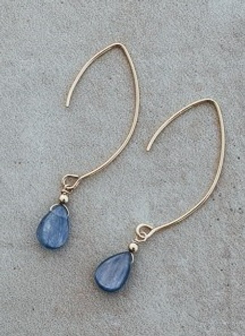 Kaiah Earrings-gold/kyanite