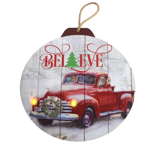 RED TRUCK LED WALL ART