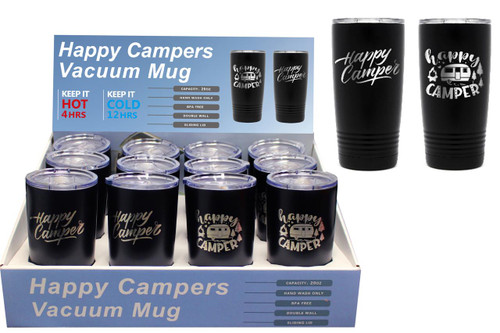 20oz Happy Camper Stainless Steel Vacuum Mug