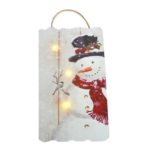SNOWMAN LED WALL ART