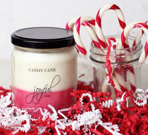 16 oz Soy Candle - Peppermint Swirl