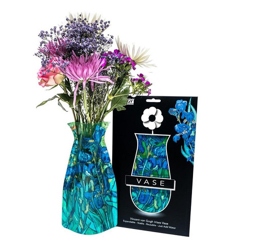 Collapsible Vase - Van Gogh Irises
