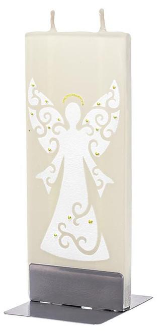 Flatyz Handpainted Flat Candle - Angel, Gold
