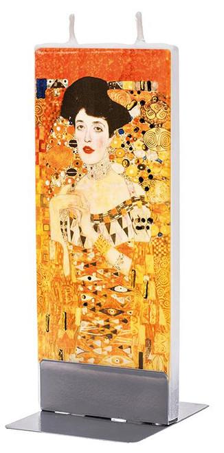 Flatyz Handpainted Flat Candle - Klimt  Adele