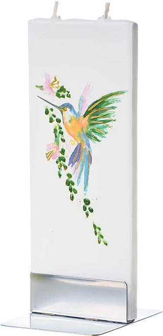 Flatyz Handpainted Flat Candle - Hummingbird