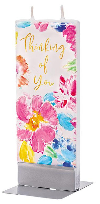 Flatyz Handpainted Flat Candle - Thinking of You Floral Print
