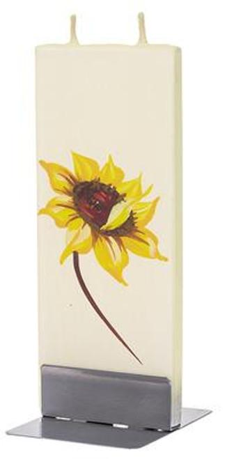 Flatyz Handpainted Flat Candle - Sunflower1