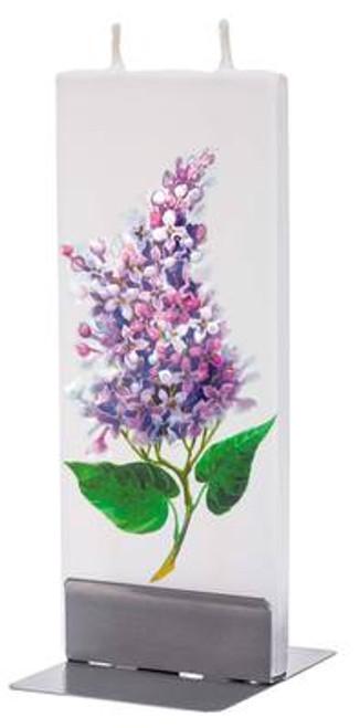 Flatyz Handpainted Flat Candle - Purple Lilac