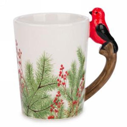 Mug with cardinal handle