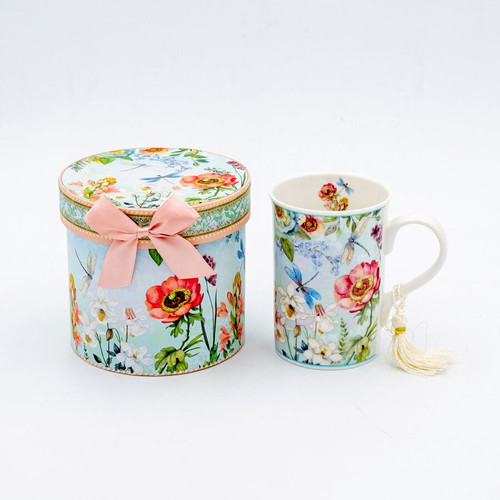 Dragonfly Straight Mug in a Matching Gift Box